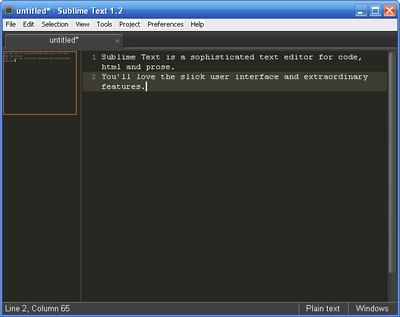 Sublime Text 2 build 2095 Beta