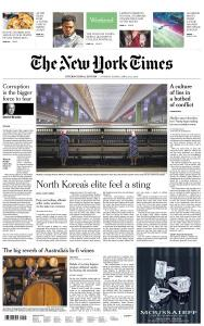 International New York Times - 20-21 April 2019