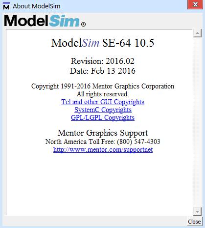 Mentor Graphics ModelSim SE 10.5