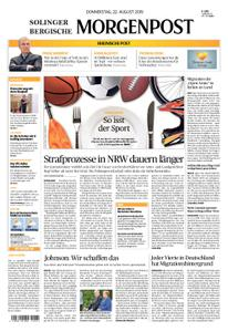 Solinger Morgenpost – 22. August 2019