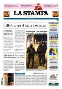 La Stampa Torino Provincia e Canavese - 14 Dicembre 2018