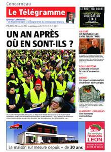 Le Télégramme Concarneau – 12 novembre 2019