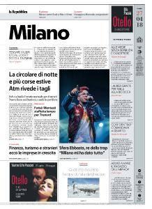 la Repubblica Milano - 27 Aprile 2018