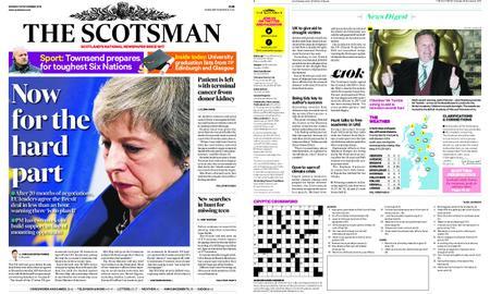The Scotsman – November 26, 2018