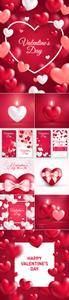 Valentine's Day 2017 Cards Vector