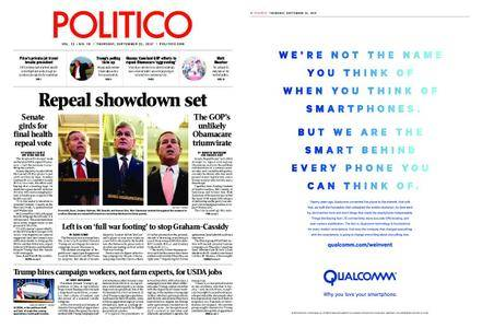 Politico – September 21, 2017