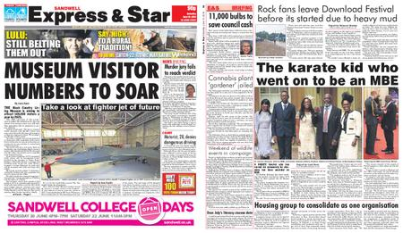 Express and Star Sandwell Edition – June 15, 2019