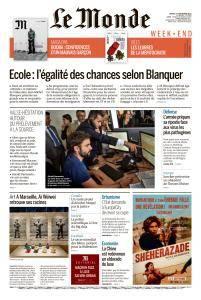 Le Monde du Samedi 1 Septembre 2018