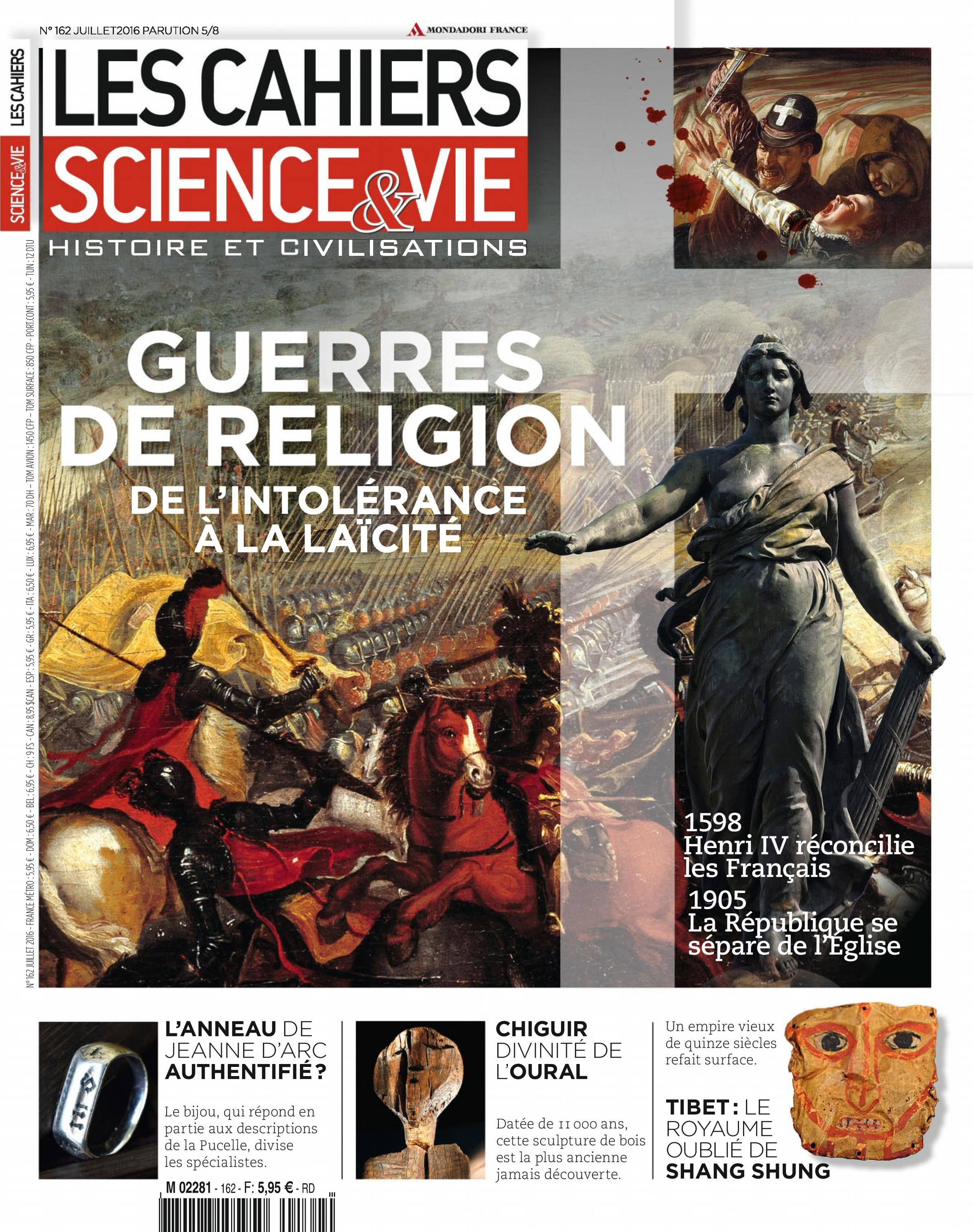 Les Cahiers de Science & Vie - juillet 2016