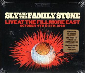 Sly & The Family Stone - Live At The Fillmore East 1968 (2015) [4CD Box Set]