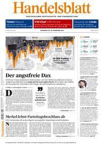Handelsblatt - 08. Dezember 2016
