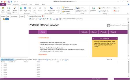 MetaProducts Portable Offline Browser 7.7.4640 Multilingual