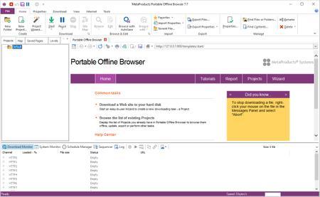 MetaProducts Portable Offline Browser 7.7.4642 SR1 Multilingual
