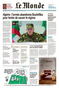 Le Monde du Jeudi 28 Mars 2019