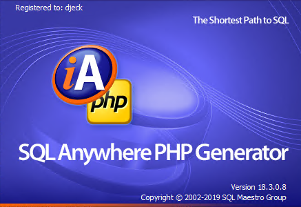 SQLMaestro ASA PHP Generator Professional 18.3.0.8