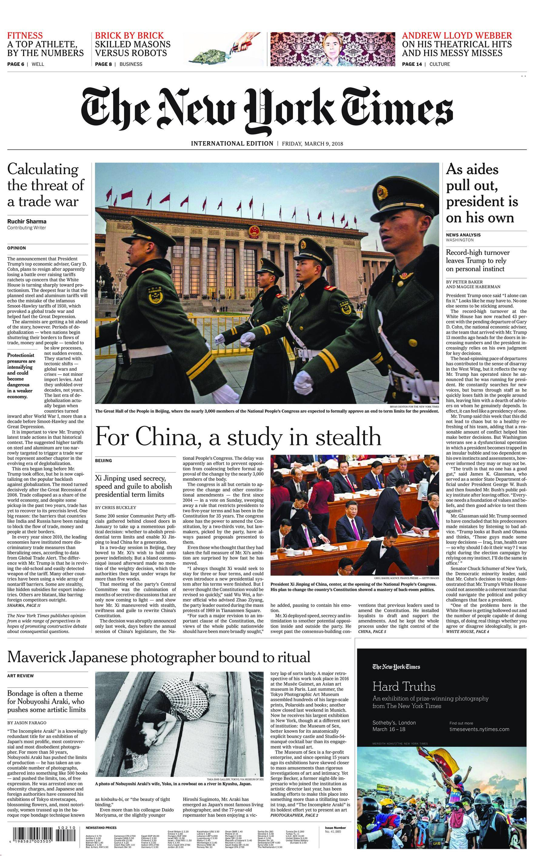 International New York Times - 09 March 2018