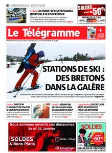 Le Télégramme Landerneau - Lesneven – 22 janvier 2021