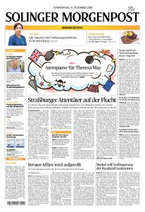 Solinger Morgenpost – 13. Dezember 2018