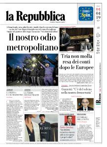 la Repubblica - 4 Aprile 2019