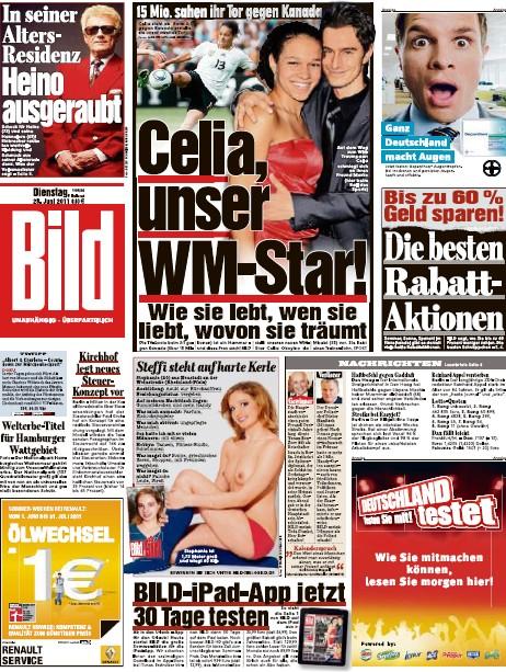 Bild Zeitung vom 28 Juni 2011