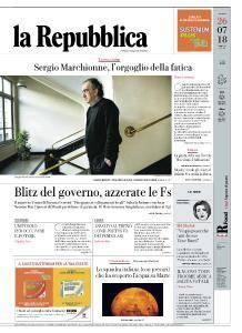 la Repubblica - 26 Luglio 2018