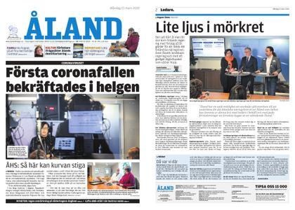 Ålandstidningen – 23 mars 2020