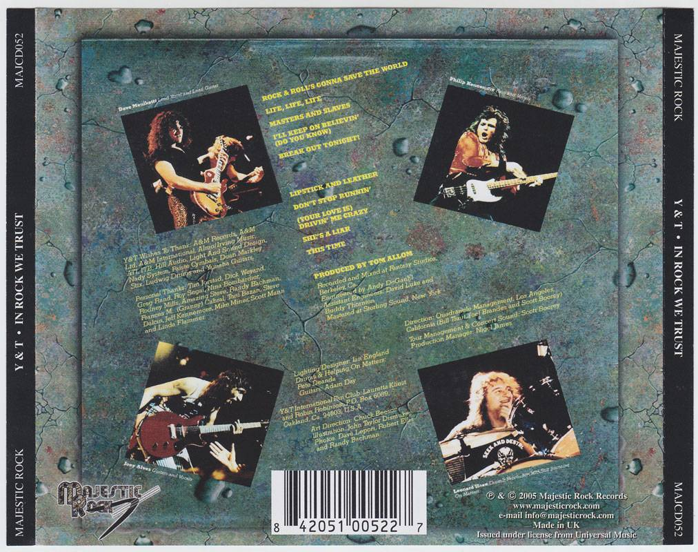 Y Amp T In Rock We Trust 1984 Avaxhome