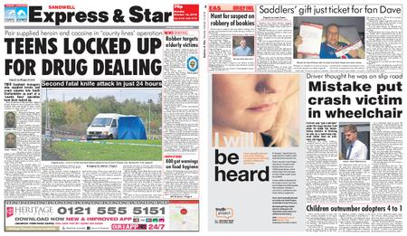 Express and Star Sandwell Edition – October 15, 2018