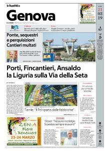la Repubblica Genova - 21 Marzo 2019