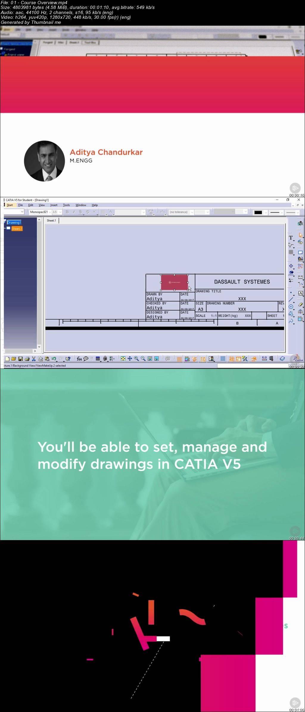 CATIA V5 Essentials: In-depth Drawings / AvaxHome