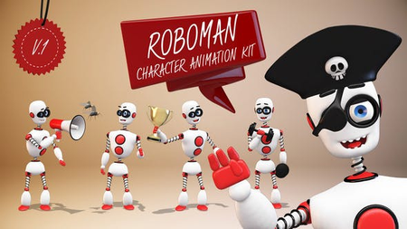 Roboman - Character Animation Kit - Project for After Effects (VideoHive) 22586843