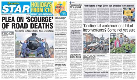 Shropshire Star North County Edition – August 03, 2020