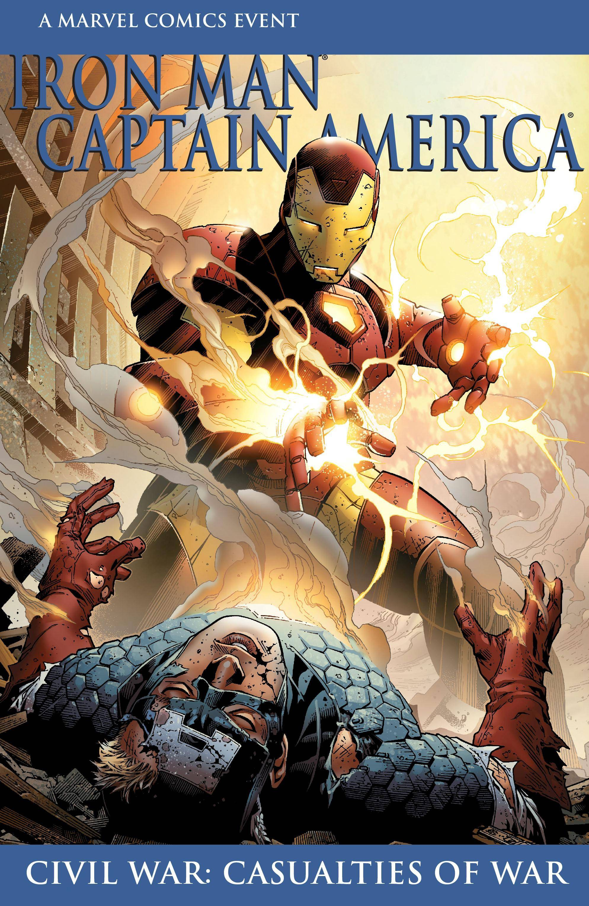 Civil War - Casualties of War - Iron Man-Captain America 2007 digital