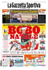 La Gazzetta dello Sport Roma – 13 dicembre 2020