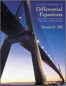 A first course in differential equations: The clasic fifth edition
