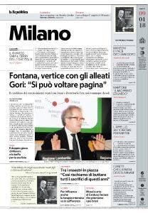 la Repubblica Milano - 9 Gennaio 2018