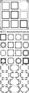 Vectors - Ornamental Floral Frames 59