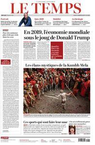 Le Temps - 03 janvier 2019