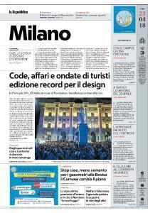 la Repubblica Milano - 23 Aprile 2018