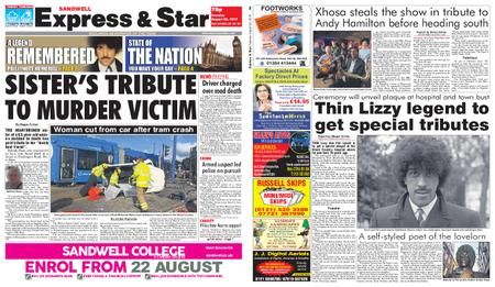 Express and Star Sandwell Edition – August 20, 2019