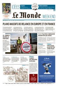Le Monde du Samedi 11 Avril 2020