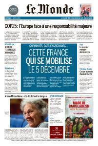 Le Monde du Dimanche 1er et Lundi 2 Décembre 2019