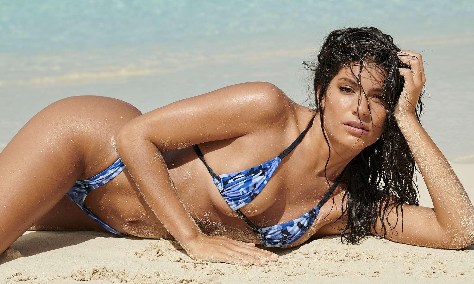 Manuela Alvarez Hernandez photographed by Yu Tsai on Paradise Island for Sports Illustrated Swimsuit 2019
