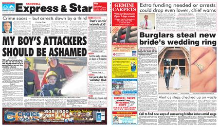Express and Star Sandwell Edition – October 31, 2018