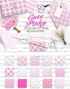 CreativeMarket - Cute Pinky Patterns Pack