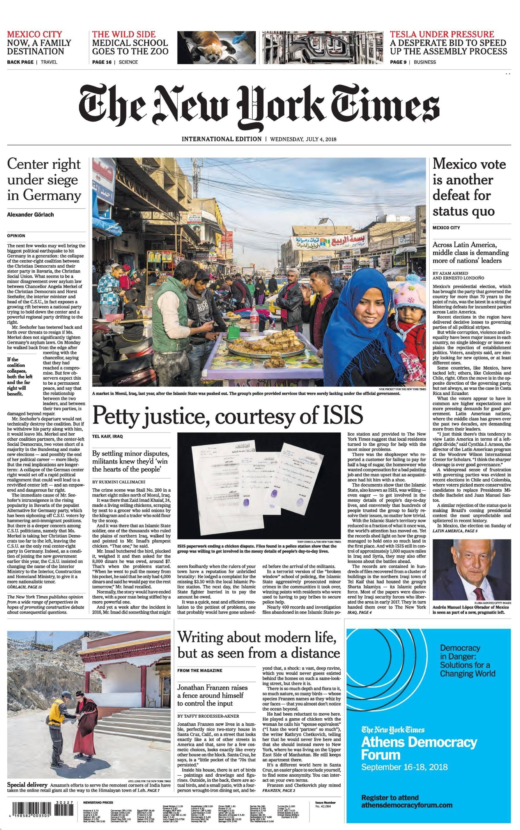 International New York Times - 04 July 2018
