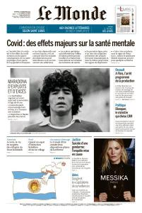 Le Monde du Vendredi 27 Novembre 2020