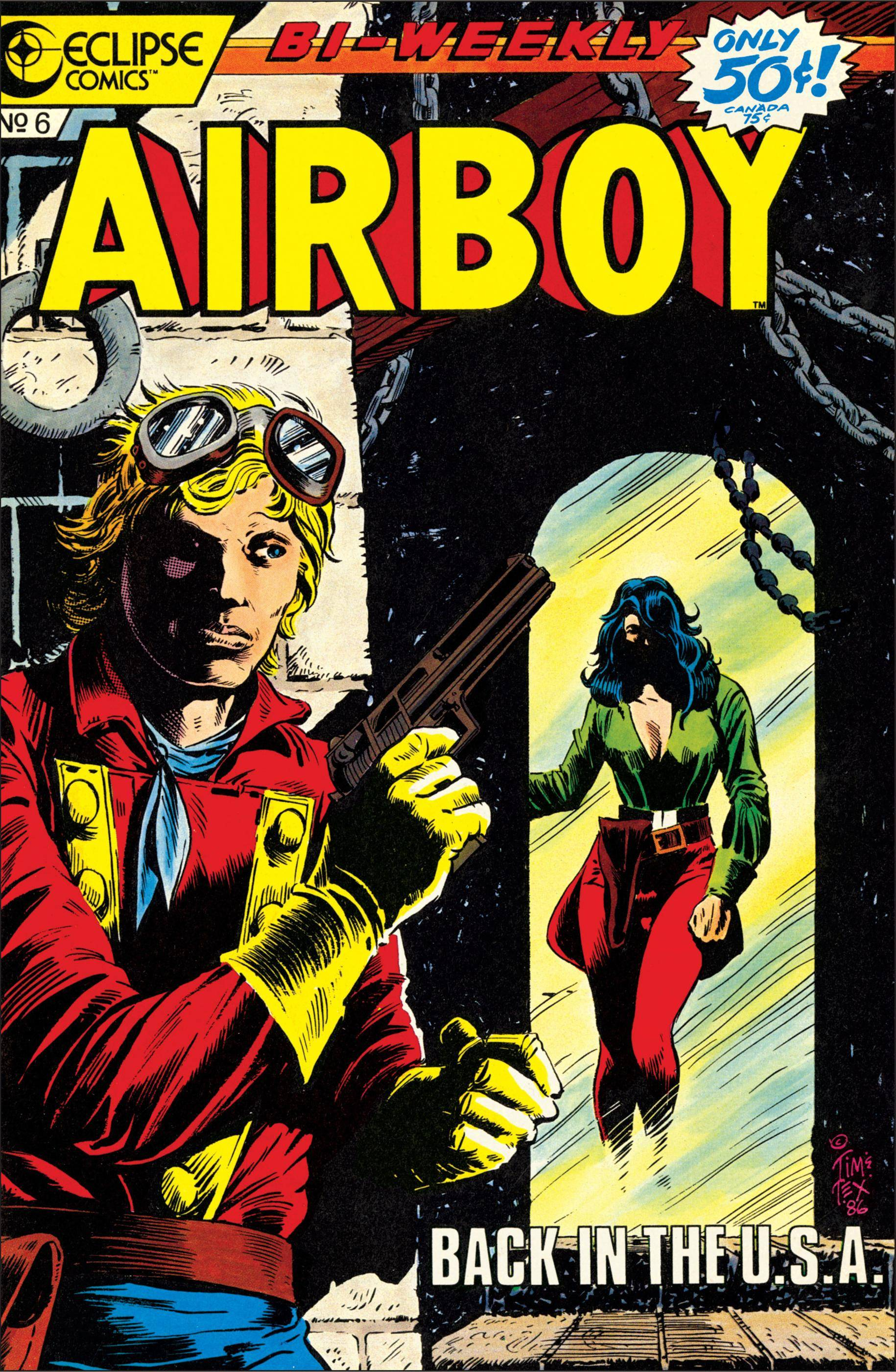 Bronze Age reboot of a Golden Age classic - Airboy 006 1986 Digital Eclipse Comics cbr