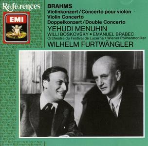 Yehudi Menuin, Willi Boskovsky, Emanuel Brabec, Wilhelm Furtwangler - Brahms: Violin Concerto, Double Concerto (1990)
