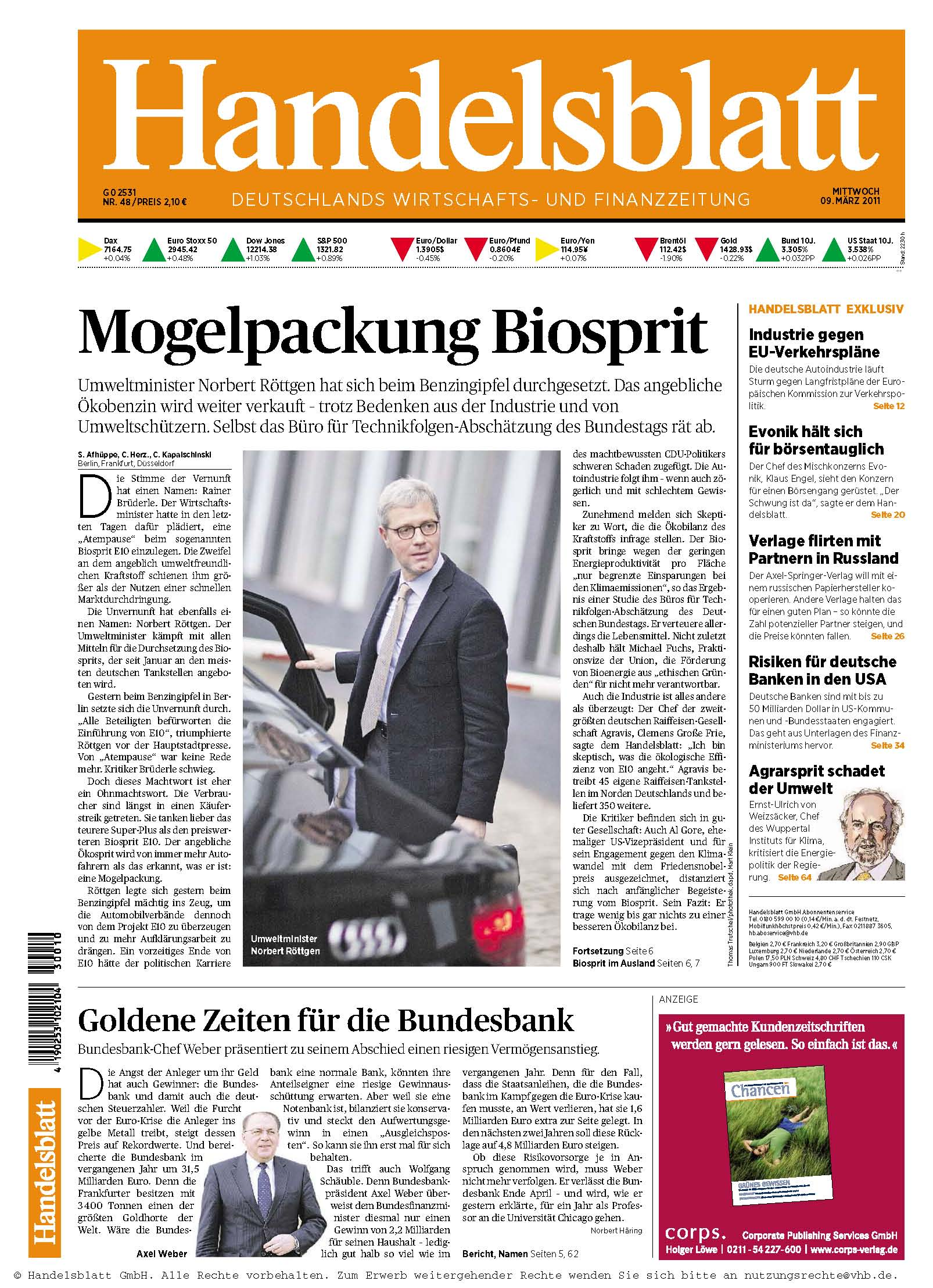 Handelsblatt Nr 048 vom 09.03.2011
